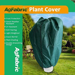 Agfabric Plant Cover for Freeze Protection- 36ftx48ft 3D Dome Shrub Jacket with Double Drawstrings for Season Extension&Frost Protection,Dark Green