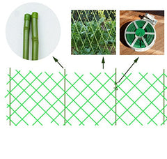 Artificial Bamboo Fence H11.8inchxL53.15inchGreen
