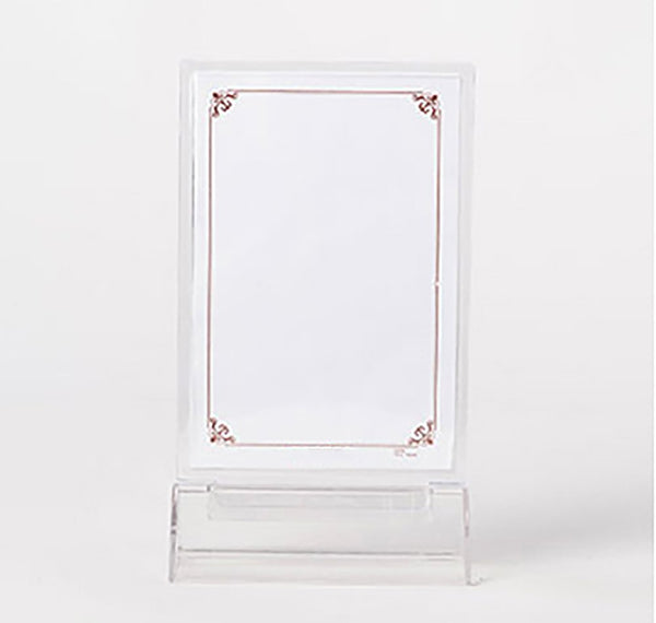 Clear Acrylic  Ad FramesTriangle base 3pack