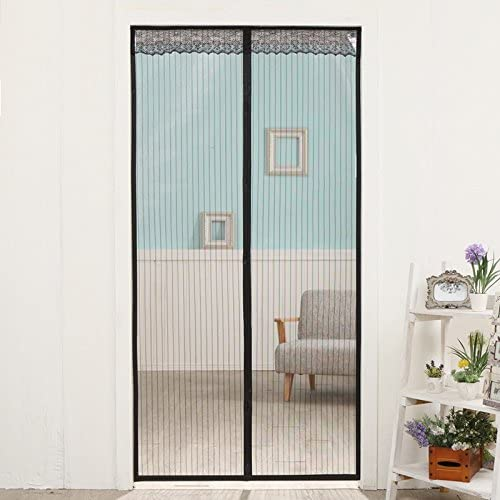 Black Shatex Magnetic Screen Door Mosquito Netting Screen