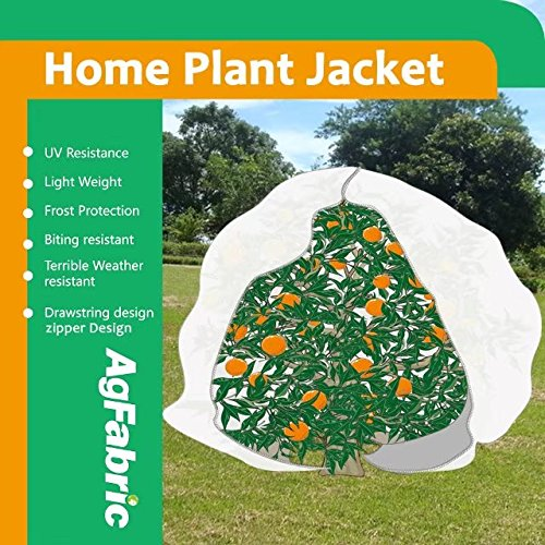 Plant protecting bag with zipper 0.95oz