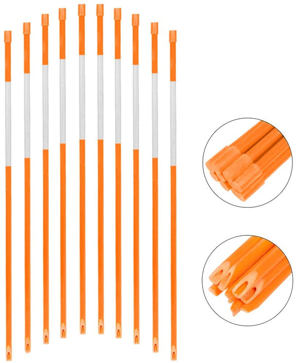 snow marker,1/4in hollow tube,orange,50pcs