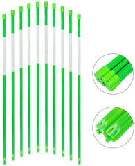 snow marker,1/4in hollow tube,4ft,green,20pcs