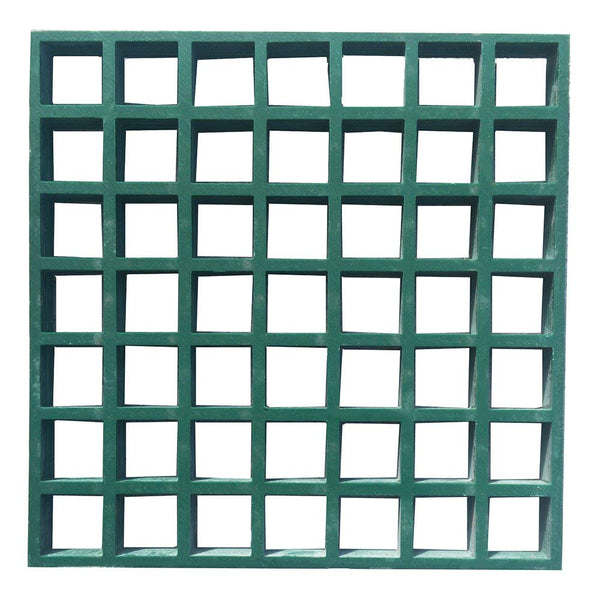 Fiberglass Molded Grating, 4x12ft, Green