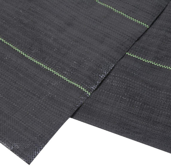3 oz 5/6ftW Woven Fabric Weed Barrier for Small Area, Black