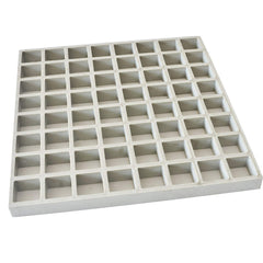 FRP Molded Grate,12inchx12inchx1inch White, 1pc