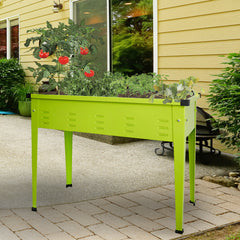 "Herb Garden Elevated Garden Bed for Vegetables Outdoor Indoor Patio Greenhouse 49.4"" L x 21.5"" W  x 28.1"" H -Green"