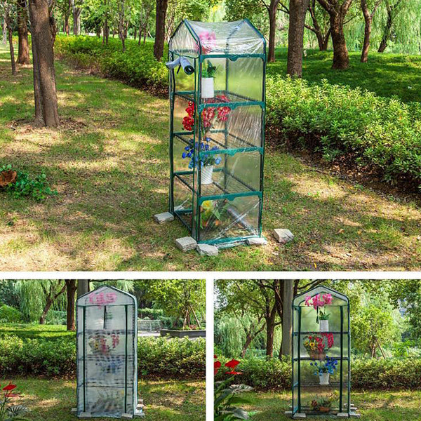 Mini Double Layers Greenhouse with  Sturdy Portable Shelves