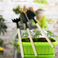 Mini Garden Tools, 3-Pack Spade Rake Shovel Set