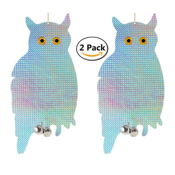 Bird Scare Reflective Discs - Owl, 2 Pack