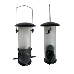 Squirrel Buster Black Hanging Tube Plastic Bird Feeder