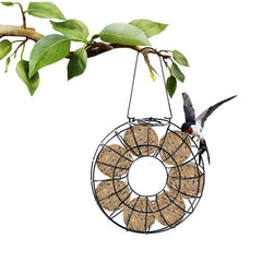 Round Metal Hanging Style Bird Feeder Suet Ball Ring Feeder