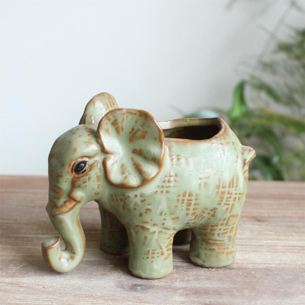 Succulent Planter 4.7*2.8*3.9in Elephant Shape