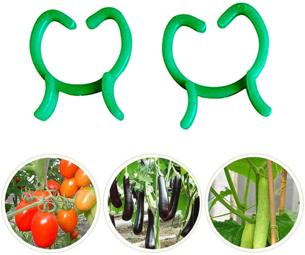 Mr Garden Green Butterfly-Shaped Garden Plant Clips 100pack-M Lever Loop Grippers