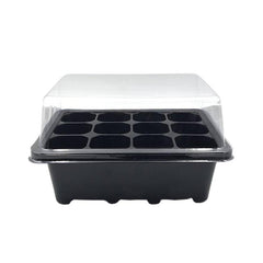 Seed Starting Pots 12 HOLES 7.3*5.7*4.3in Black Seed Starting Pots with 12 Holes