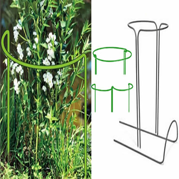 U-type Plant Support Stake W9.8*H15.7in,Green
