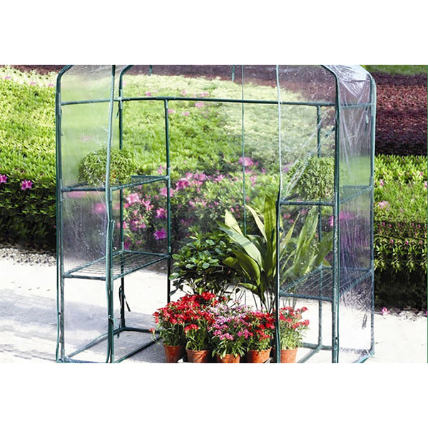 Walk-in Greenhouse with Sturdy Portable Shelves