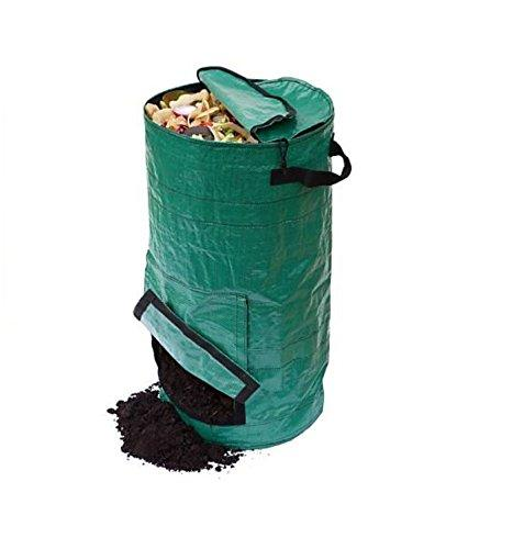 gardening lawn and leaf bags - collapsible canvas portable yard waste bag compost