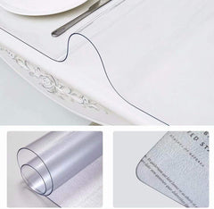 Table Cover Protector, Waterproof PVC Soft,Thickness 2mm