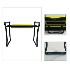 Yellow Foldable Garden Kneeler & Bench