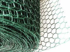 Hexagonal Wire Mesh with Post,Green