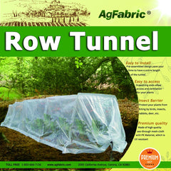 polyethylene grow tunnel for plants garden row cover