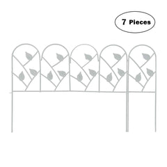 Edging Fence Metal Decorative Garden Barrier Panels 30inx18in,7 Pieces