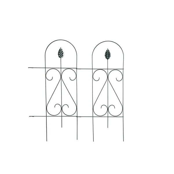 Edging Fence Metal Decorative Garden Barrier Panels 15inx32in,9 Pieces