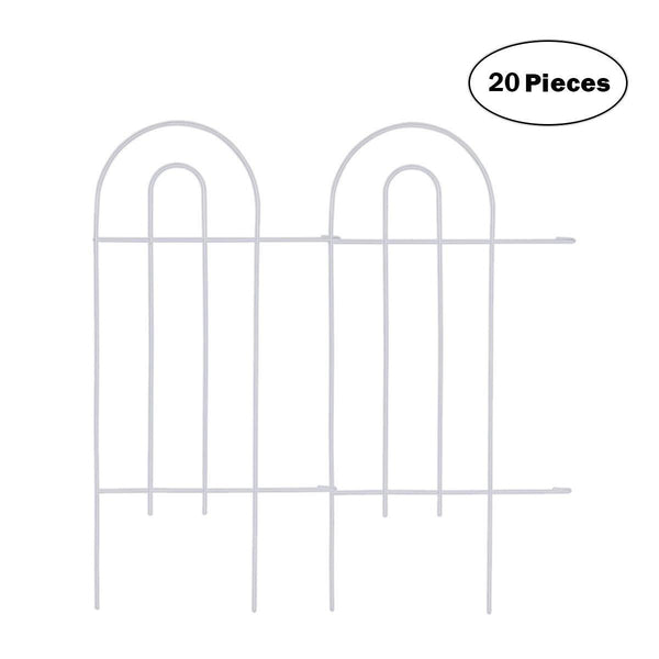 Edging Fence Metal Decorative Garden Barrier Panels 15inx32in,20 Pieces