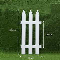 Plastic Decorative Garden Fencing,Pointed Head,White
