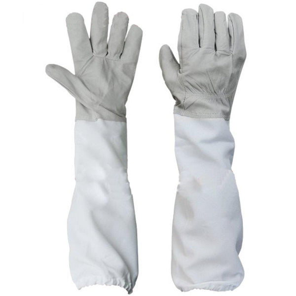 Beekeeping Protective Gloves with Vented Sleeves