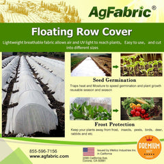 0.55oz Summer Light White Row Cover for Vegetables