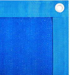 Blue 90% Shade Cloth Fabric with Grommets
