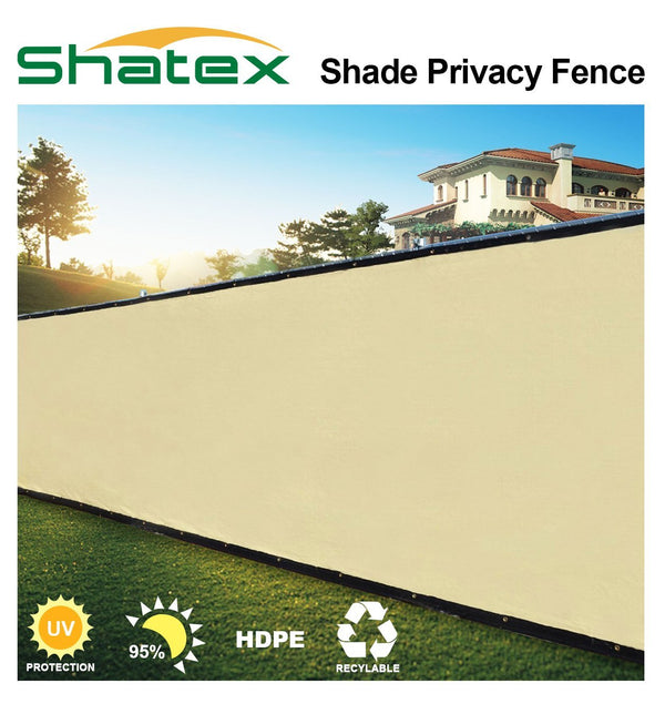 Security & Privacy Windscreen Fence with Grommets and Zip Ties,Wheat