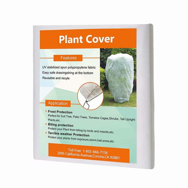 Freeze Protection Plant Cover White