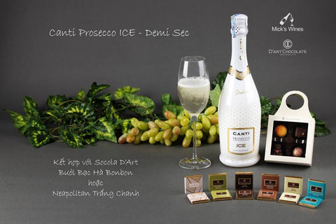 Canti Prosecco ICE & Neapolitan Trắng Chanh