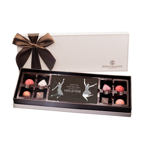 8 BONBON AND ONE ART CHOCOLATE BOX
