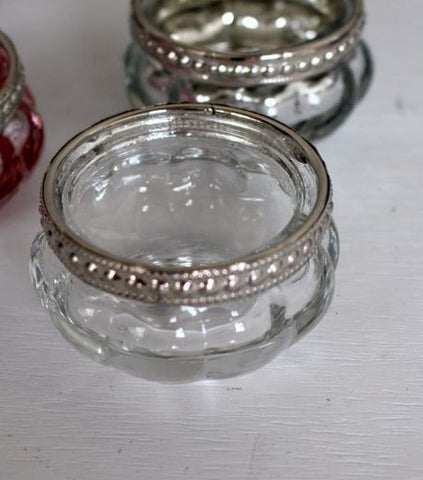 Clear Glass Tealite Holder