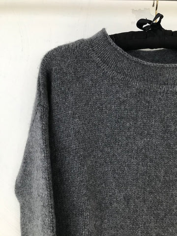 Charcoal Grey Cashmere Jumper