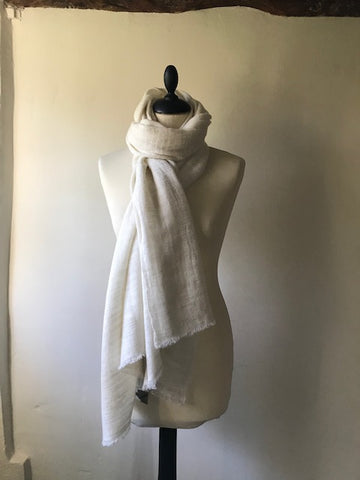 Pale Cream Cashmere Shawl