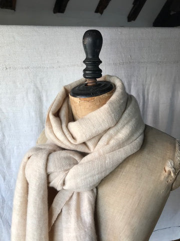 Pale Honey Cashmere Shawl
