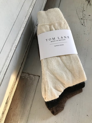Natural Alpaca Socks