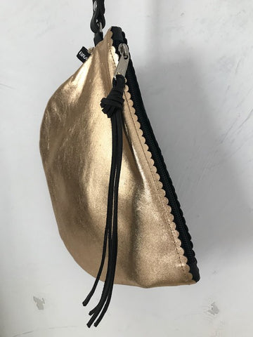 Gold & Black Pouch Bag from DNA