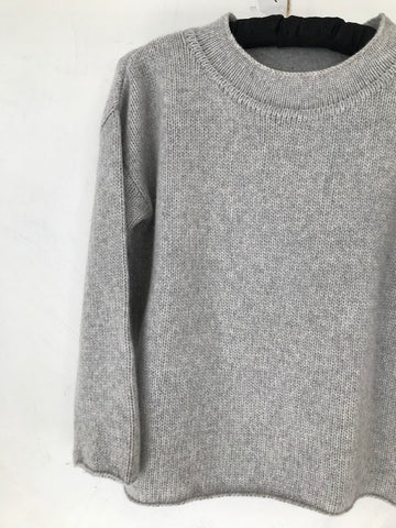 Pale Grey Cashmere Jumper