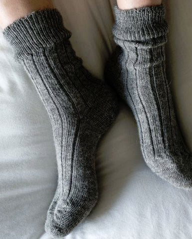 Ribbed Alpaca Socks