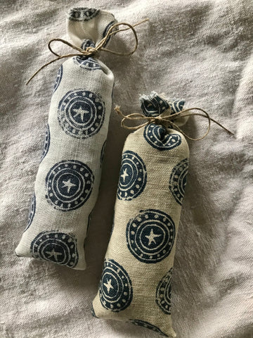 Block Printed Lavender Bag