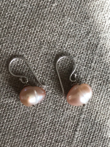 Pale Pink Freshwater Pearl Earrings