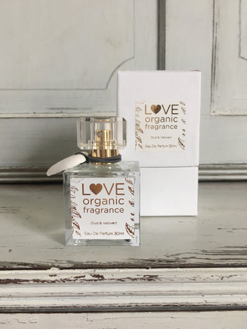 Oud and Vetiver Perfume by Love Organic