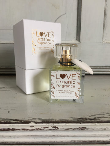 Crushed Black Pepper & Sweet Orange Perfume by Love Organic