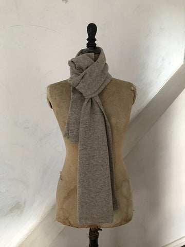Pale Stone Marl Cashmere Scarf